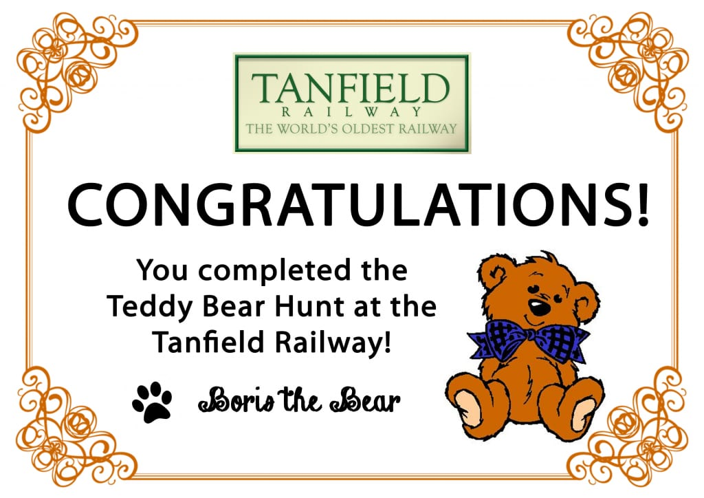 Teddy Bear certificate